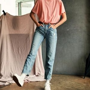 NWT fast times high rise mom jeans in acadia sz 24